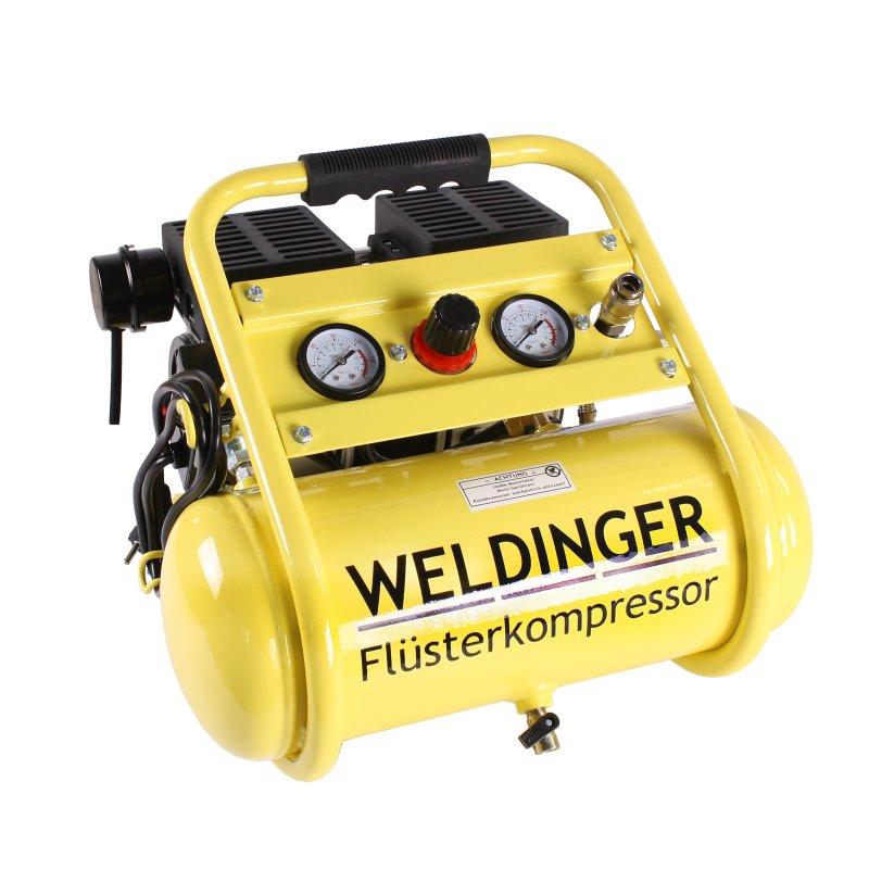 Flüster Kompressor Luftkompressor Silent Druckluft 8L 750W WELDINGER 95 compact