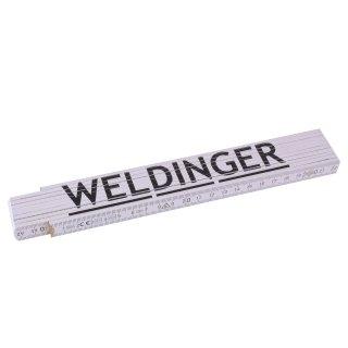 WELDINGER 2 m-Maßstab /'Zollstock/' aus Buchenholz 24,0  x 3,5 cm Gliedermaßstab